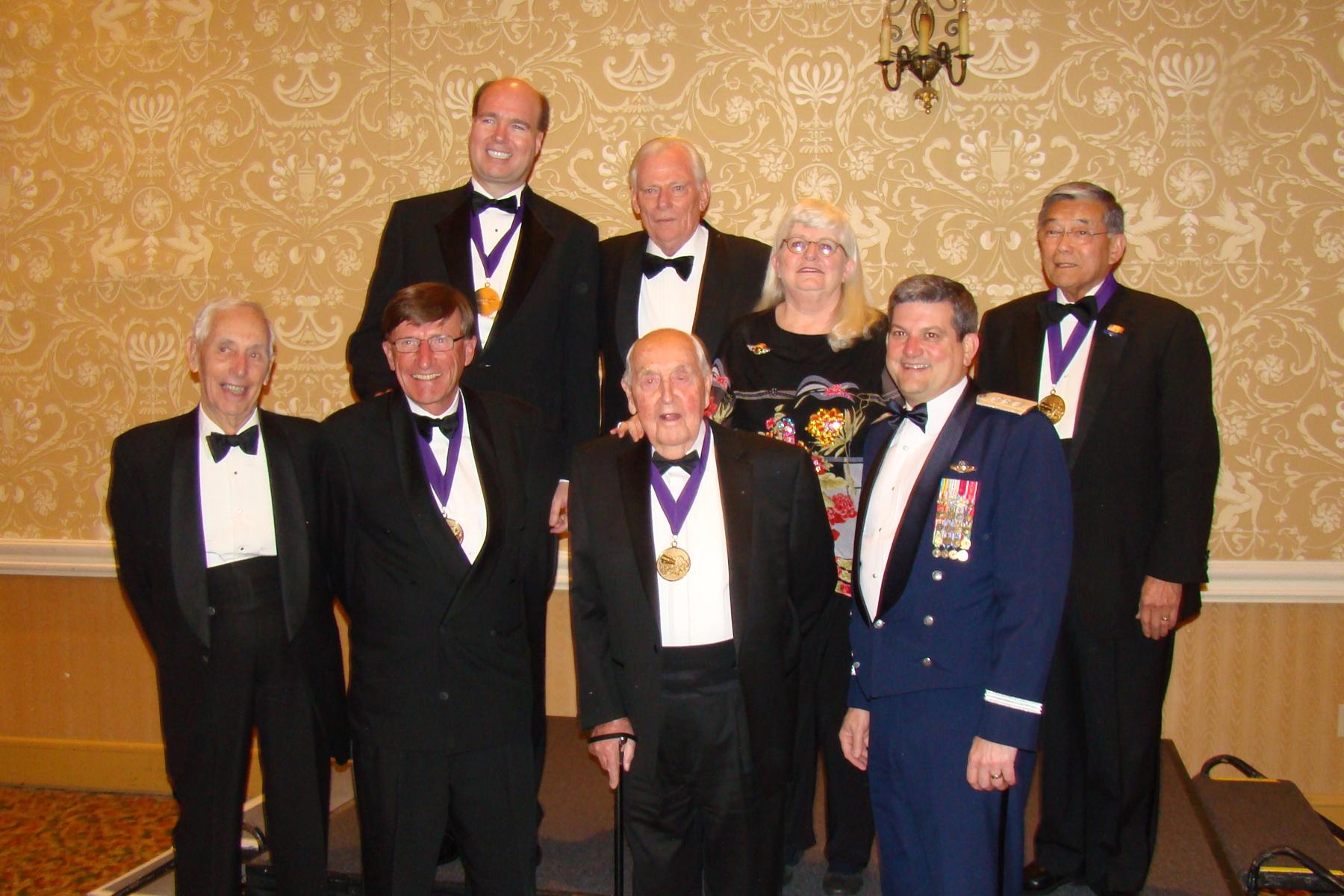 Tony Jannus Award Recipients (Top Row Kellner-Kelleher-Barrett-Mineta. Bottom Row Krusen-Kinnear-Hewitt-Findley, 30 Oct '08.jpg