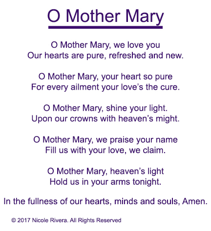 O Mother Mary Prayer