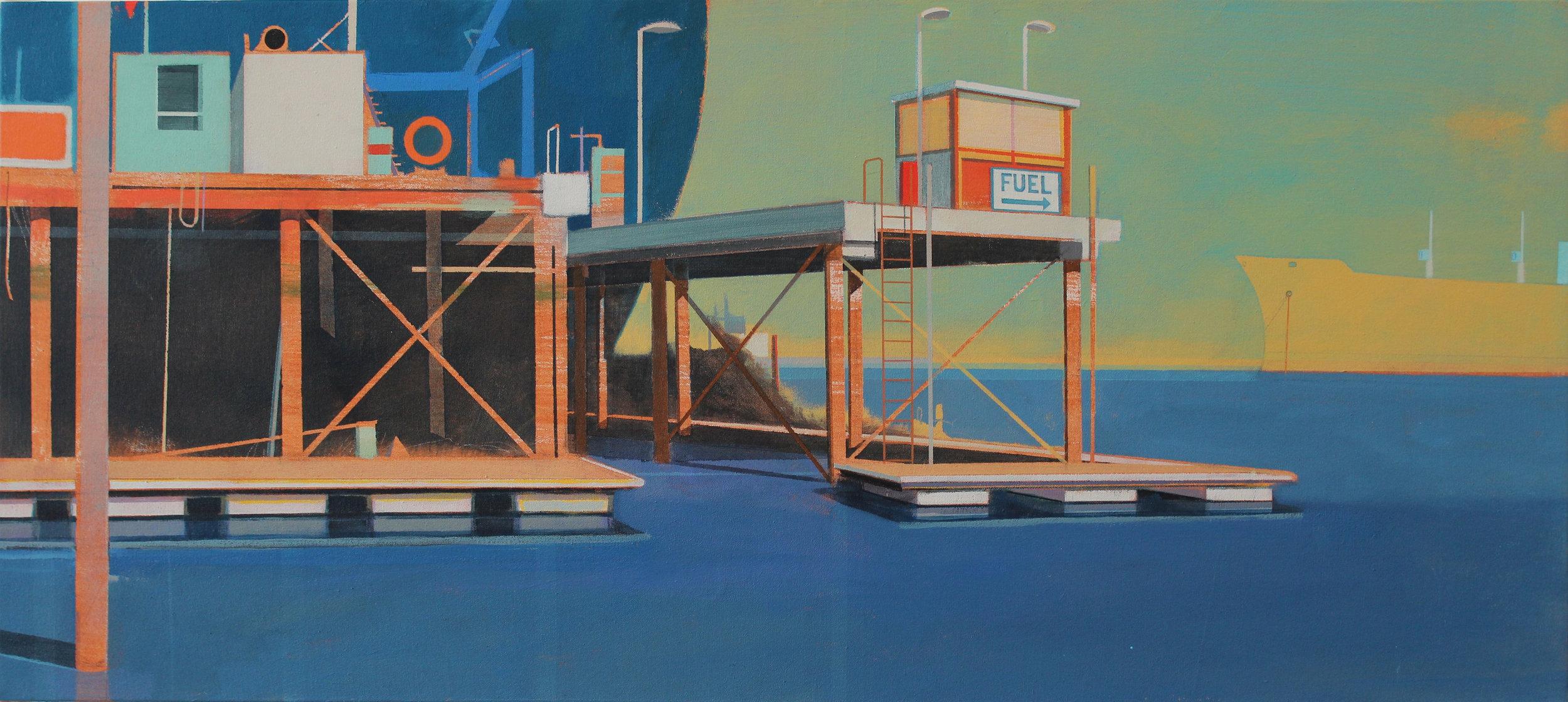Shipyard and pontoons