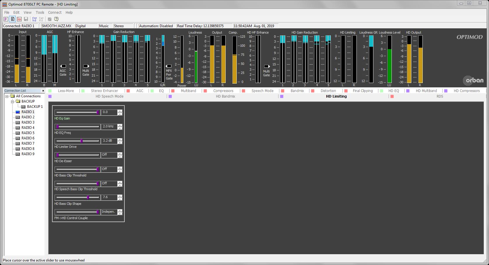 Remote Control Software for OPTIMOD 8700i LT Audio Processor