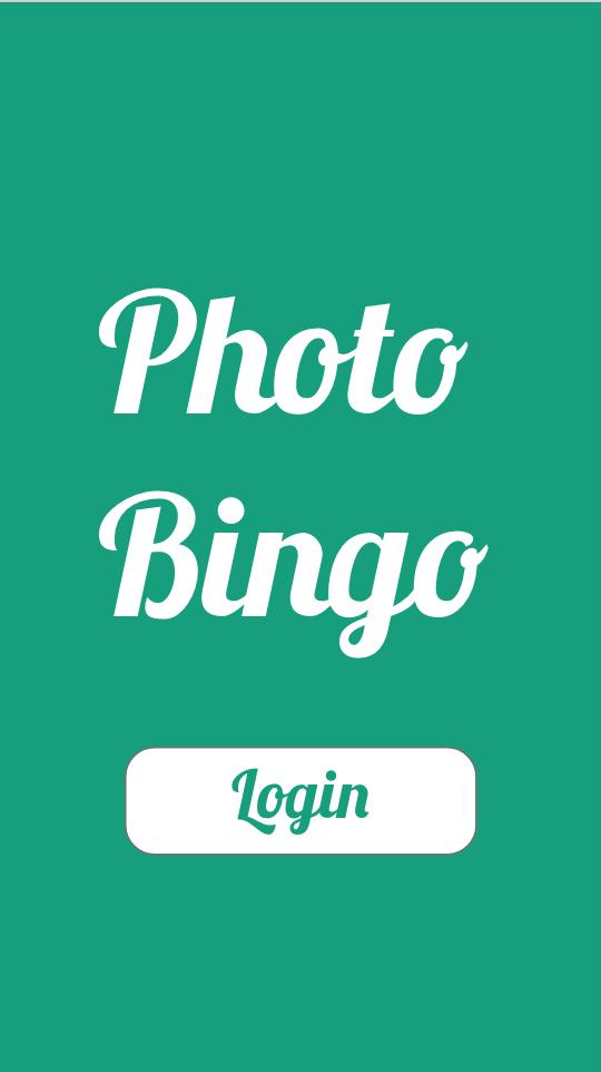 Photo Bingo Title Screen
