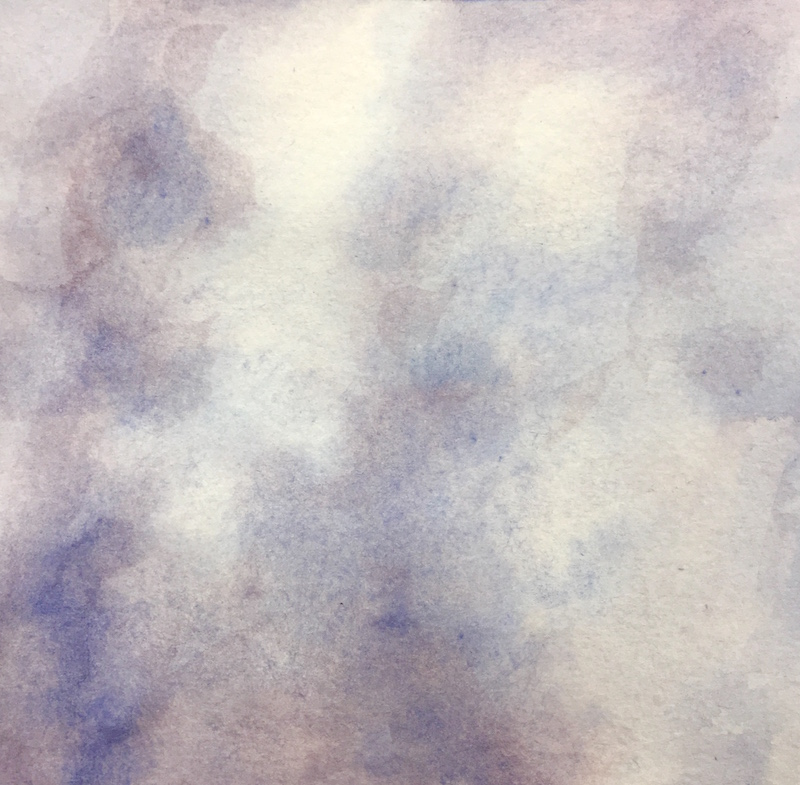 """Skylight V original watercolor, 2017 5 x 5 """", framed 11 x 11"""""""