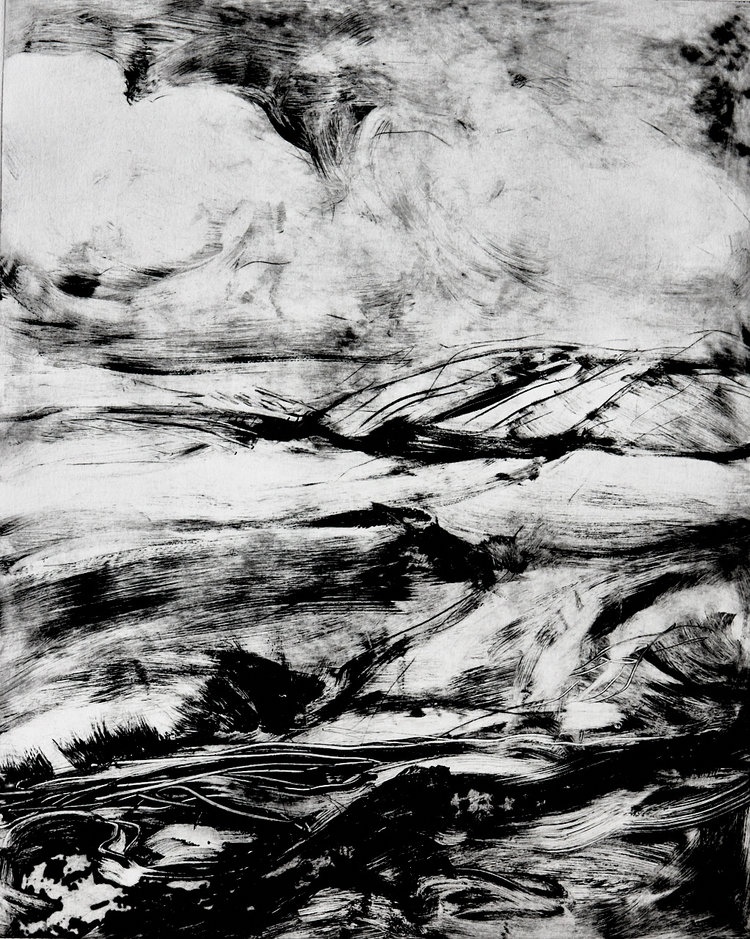 Rushing Waters 939 - Solar plate etching print on Hahnemuhle paper30