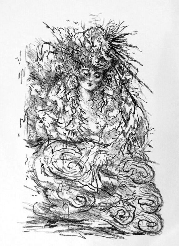 """Lithograph # 1 - Robyn TangLithograph on Hahnemuhle Etching Paper11.5""""w x 15.5""""h2017"""