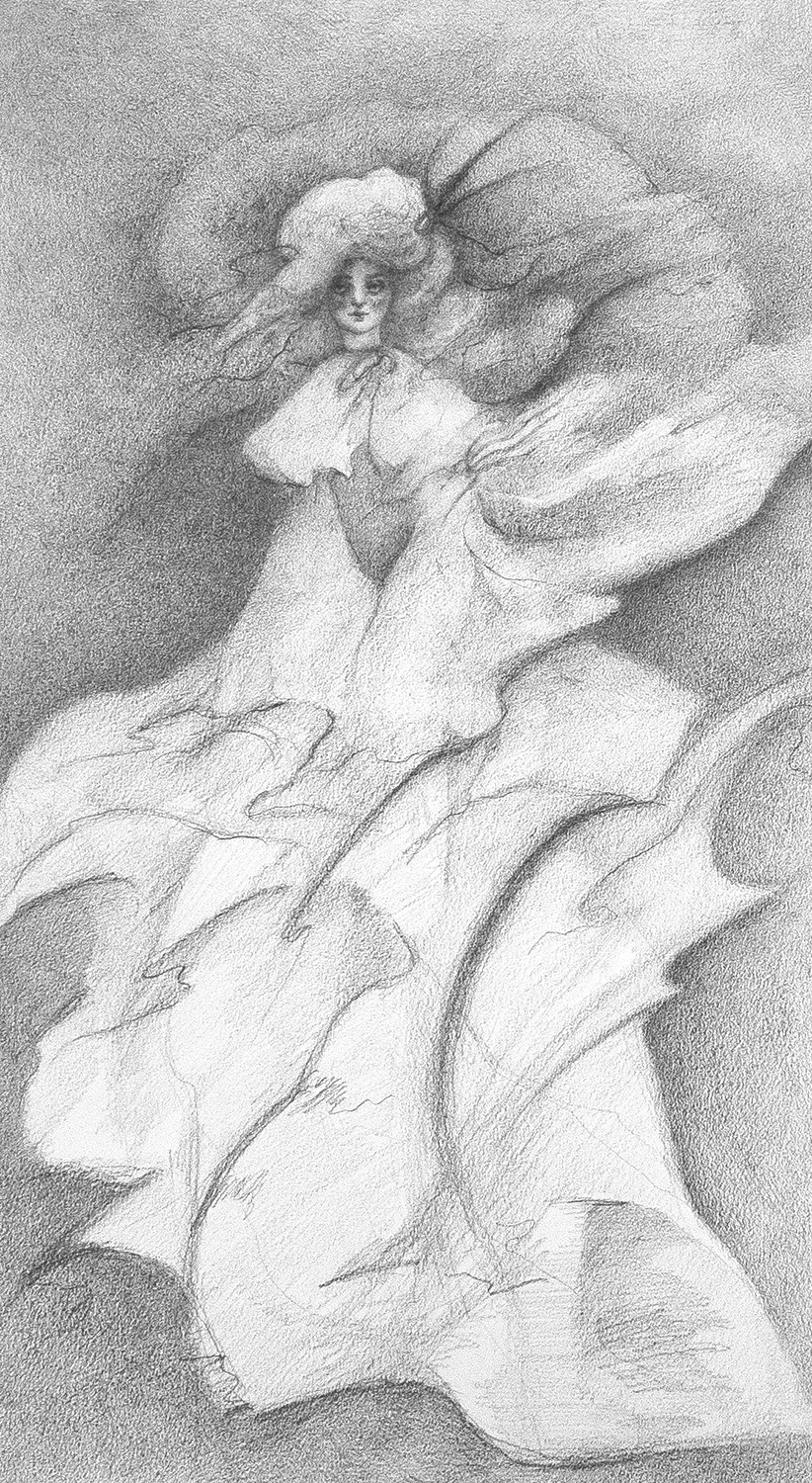 """Dancing Lady #1 - Robyn TangPencil on 11""""w x 18""""h paper2018"""