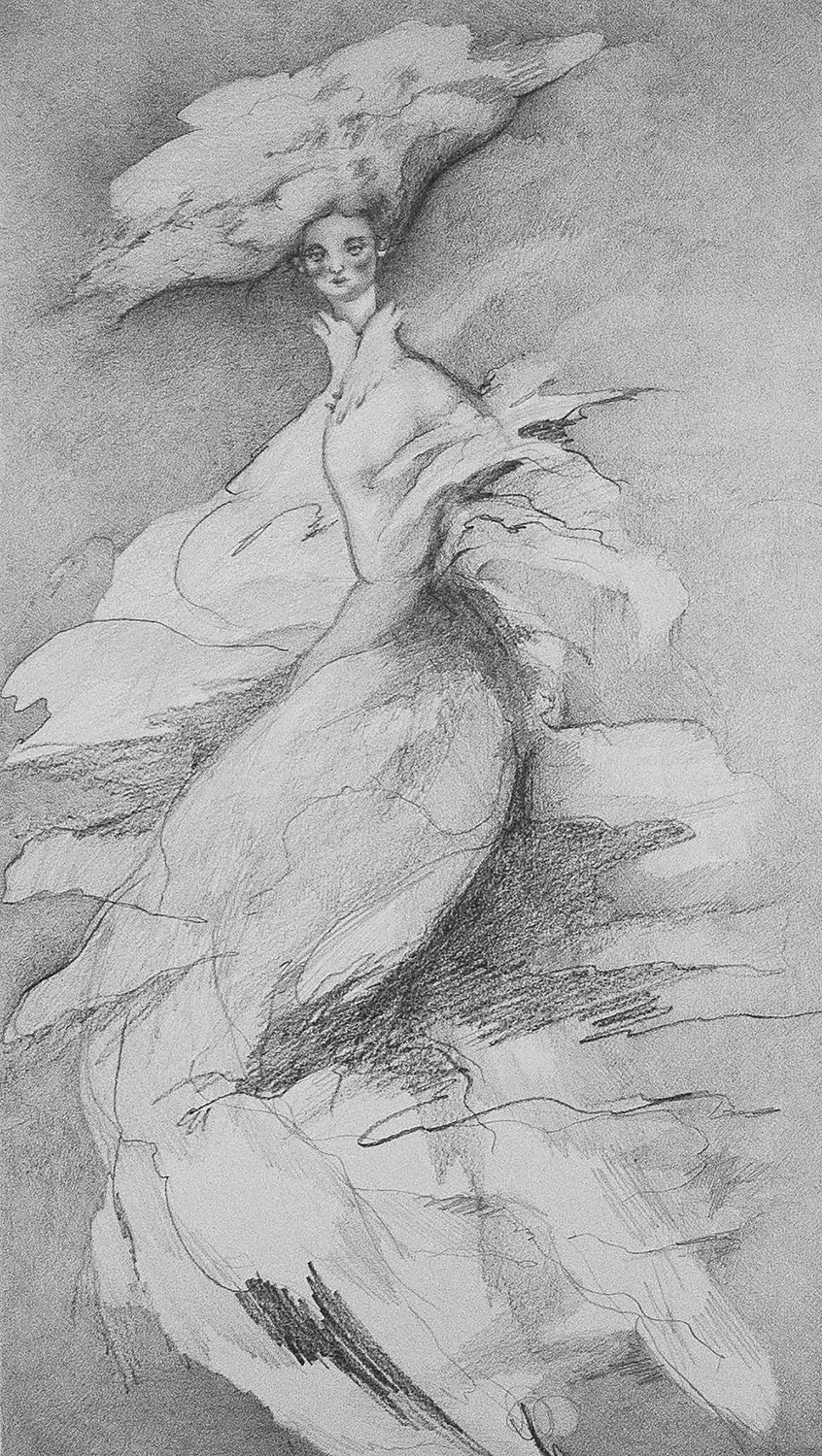 """Dancing Lady #2 - Robyn TangPencil on 11""""w x 18""""h paper2018"""
