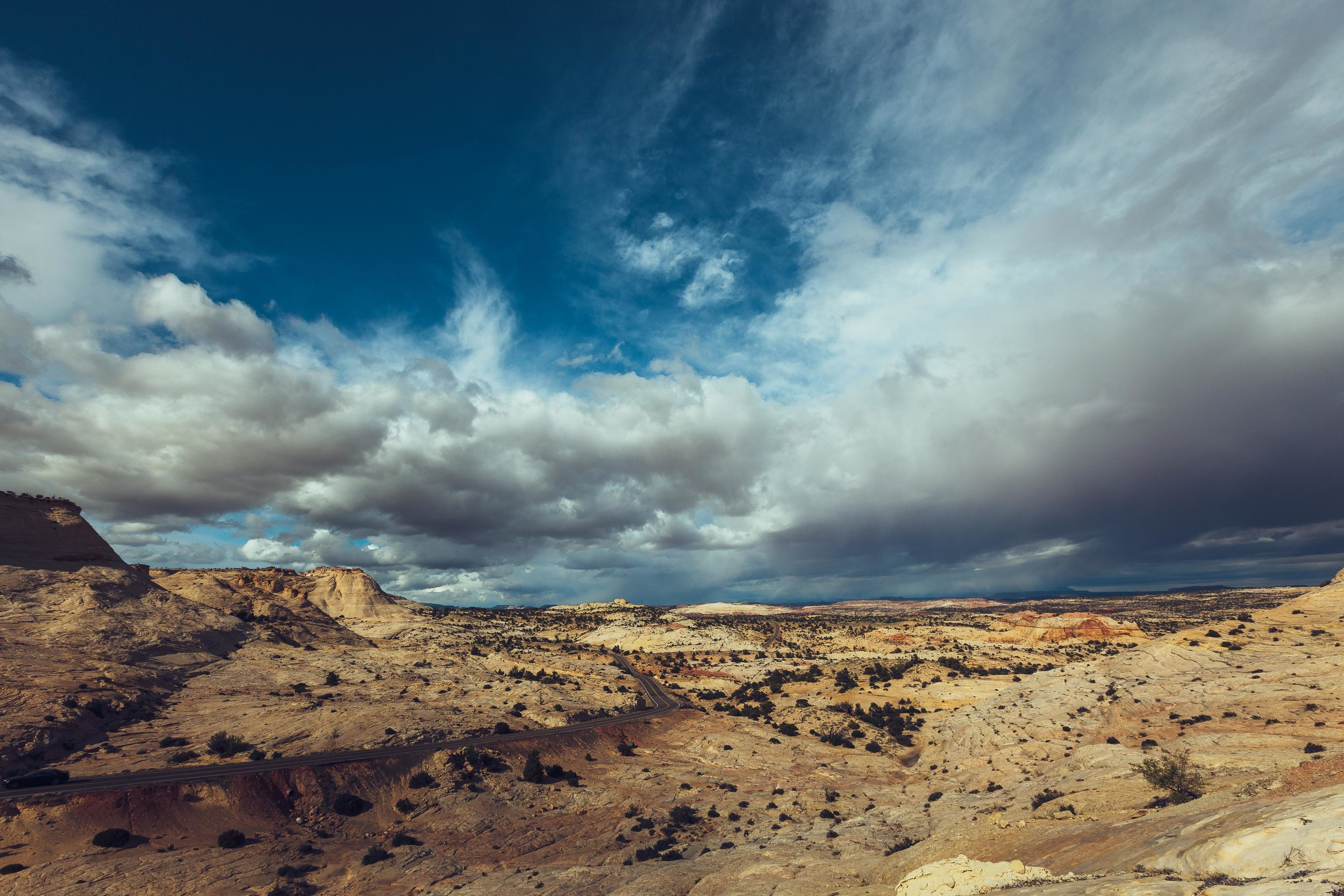 The Road to Capitol Reef National Park