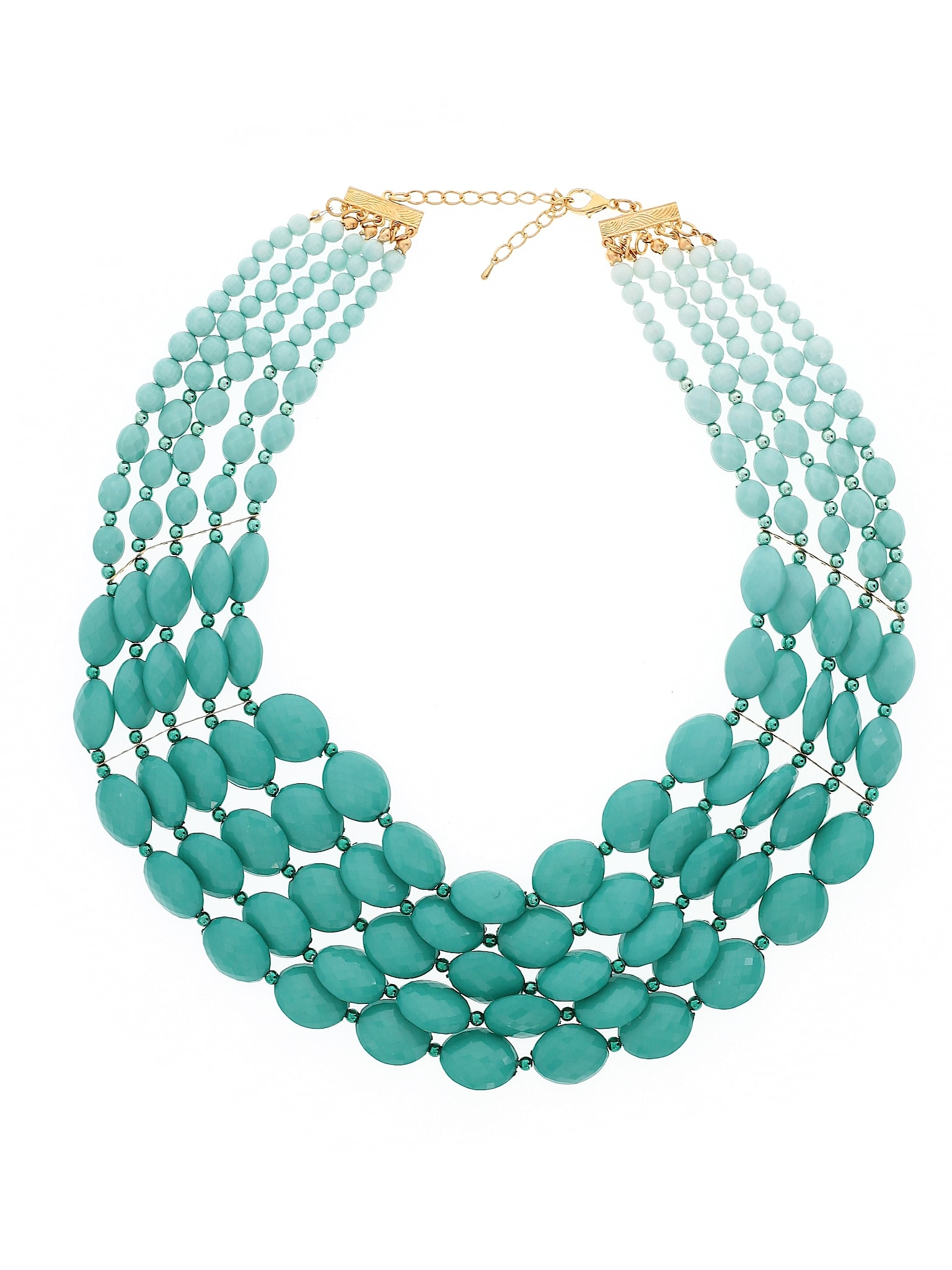 Beaded Statement Necklace -