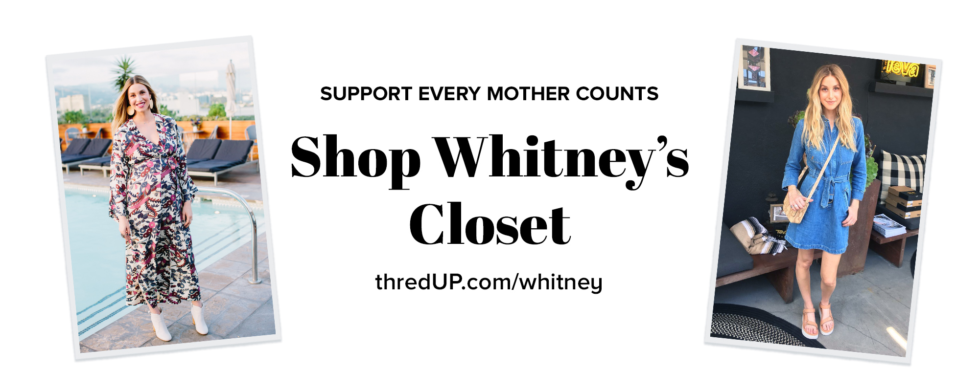 100% of each item's sale price will be donated to Every Mother Counts. thredUP will match every dollar.