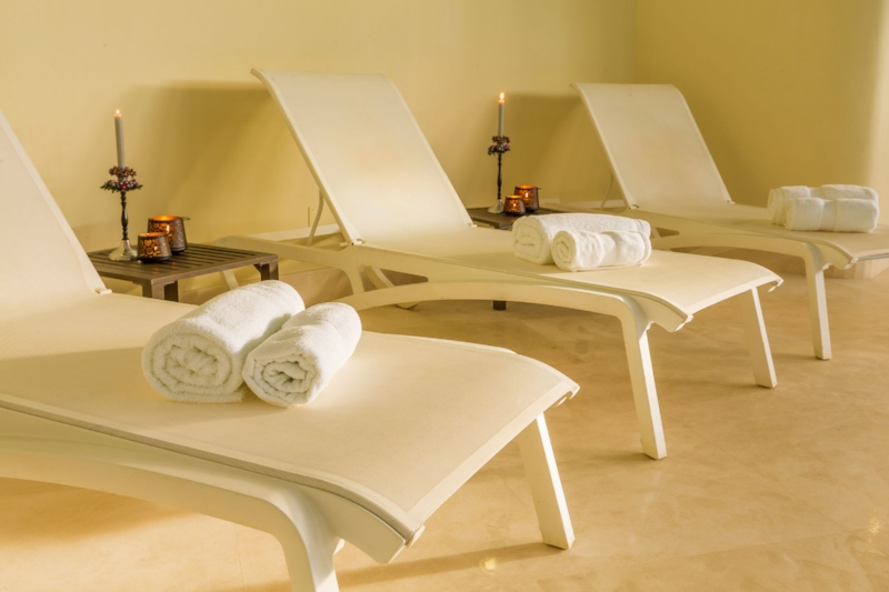 The indoor pool loungers at Villa El Cid, DSV Collection, Marbella