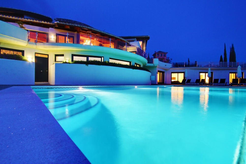 Swimming Pool at Night, Villa El Cano, DSV Collection Marbella