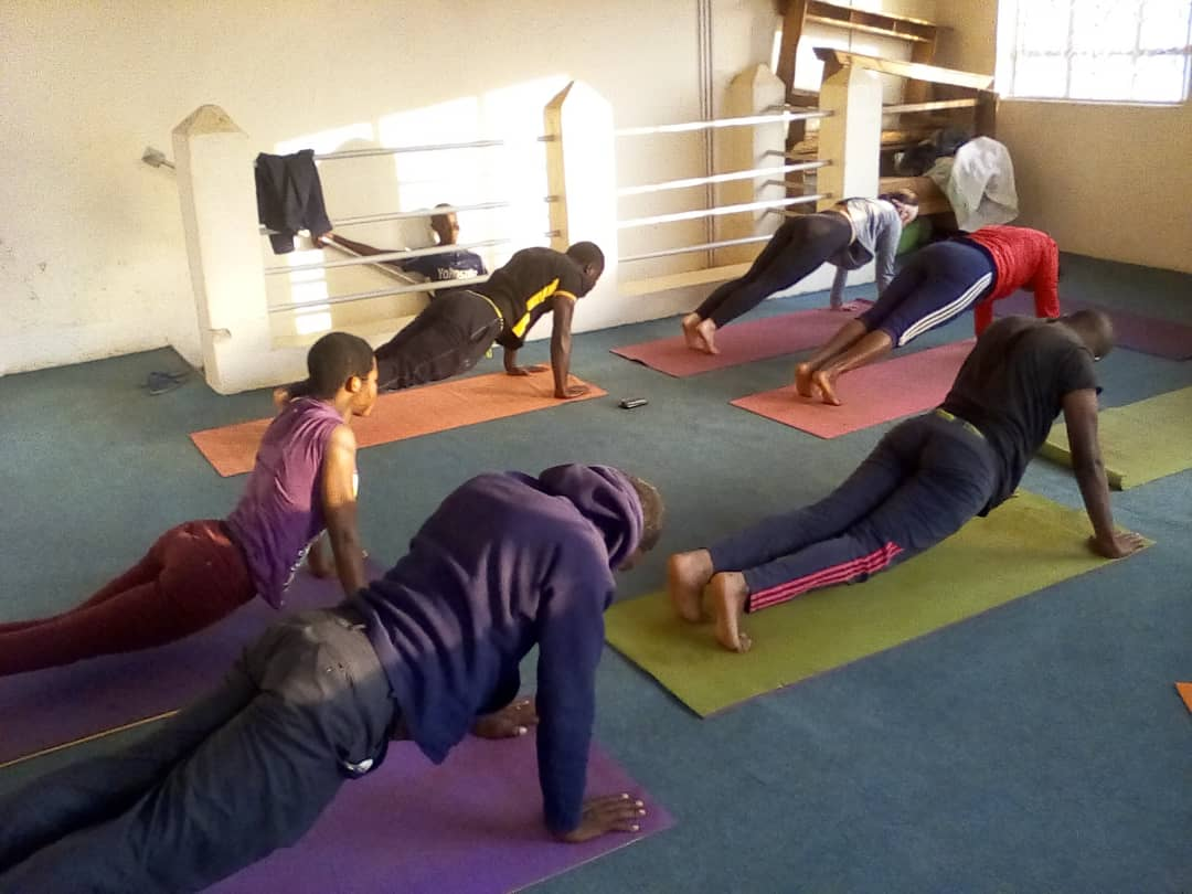 Teaching some fellow yogis... working on those planks. Maybe I need to host a Kabale Yoga Project Plank Challenge??
