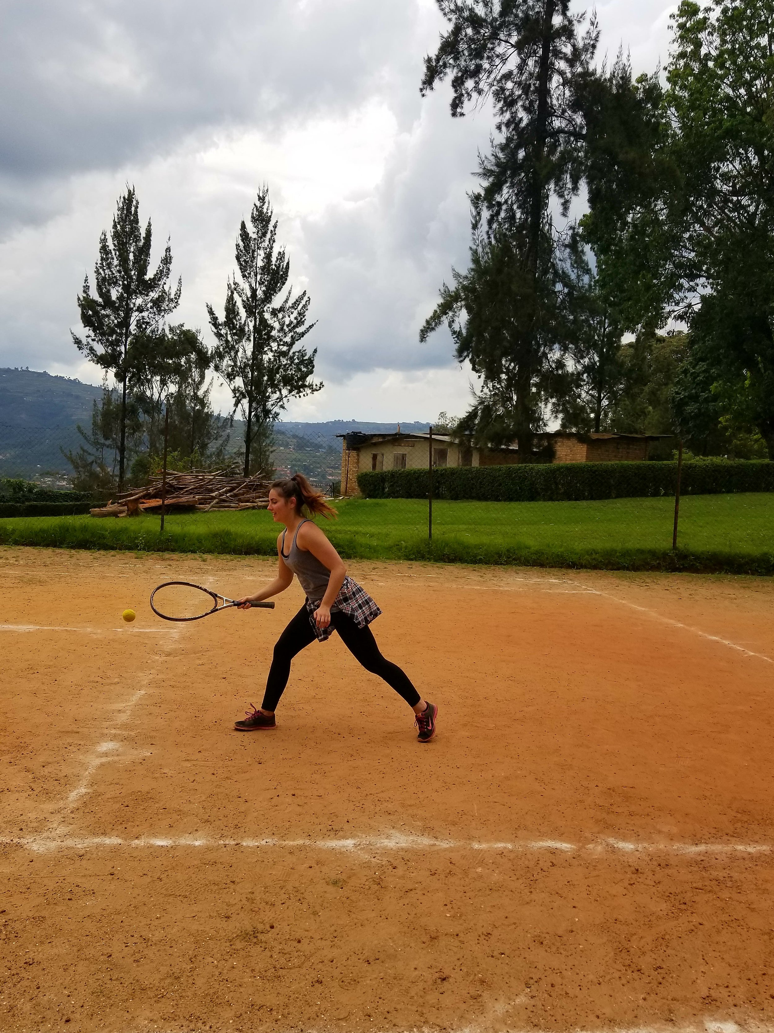 Learning the game of tennis, I am now a big fan! Who wants to play when I return home?