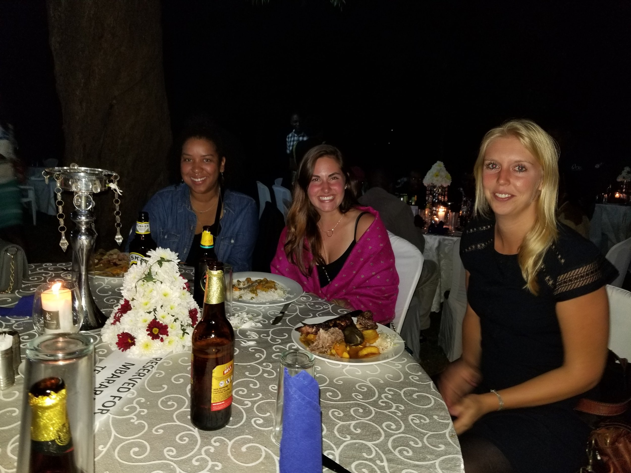 My girls (Alex, left, a Peace Corp Volunteer from Indiana. Roos, right, an EU volunteer from the Netherlands)