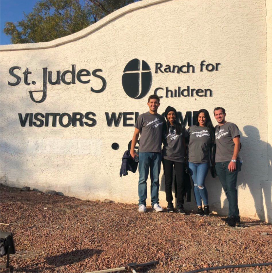 Philanthropy & Community Impact - AMA Students volunteering at St. Judes Ranch for Children