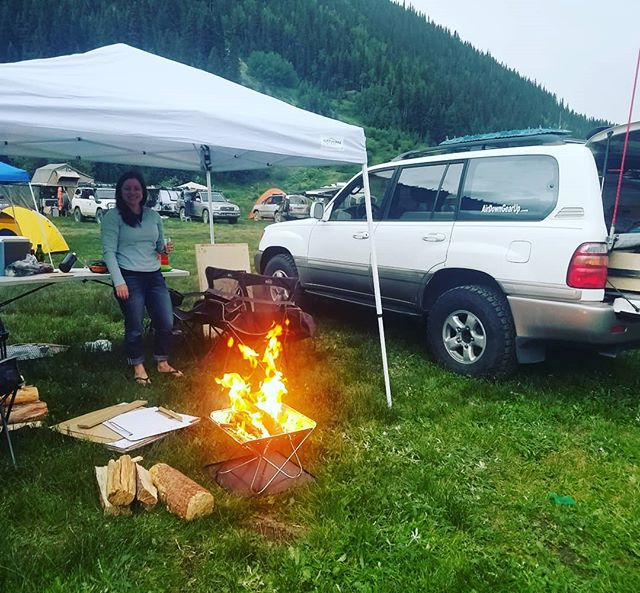 Picked up an @snowpeakusa pack and carry firepit and grill for  @100sinthehills this year and loved it! Sets ups and tears down  incredibly easy and is the perfect size. Didn't cook on it this time around but the grill top looks great, excited to try that next opportunity we get! . . . . . #toyota #adventure #landcruiser #adventuremobile #adventure #travel #camping #outdoors #overland #nature #mountains #offroad #explore #hunting #fishing #skiing #ski #100series #expedition #coloradoliving #landcruiser100series #landcruiserexpedition #lx470 #campfire #carcamping #vanlife