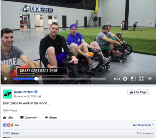 DUDE PERFECT  | FACEBOOK