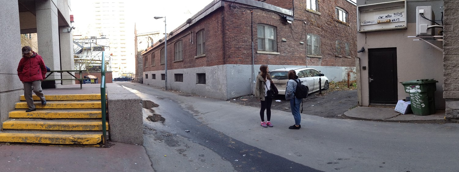 Right up your alley! - Revitalization of service alleyway in downtown Montreal(Alleyway Bishop/Mackay)