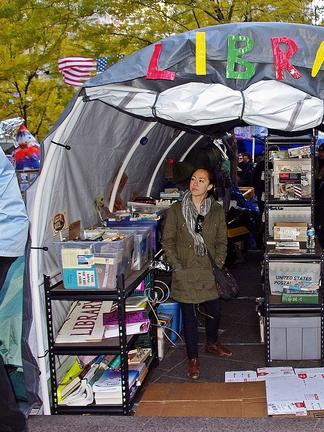 The People's Library at Occupy Wall Street. New York, 2011) (Source: Wikimedia Commons. Available online: Last accessed: June, 2017)