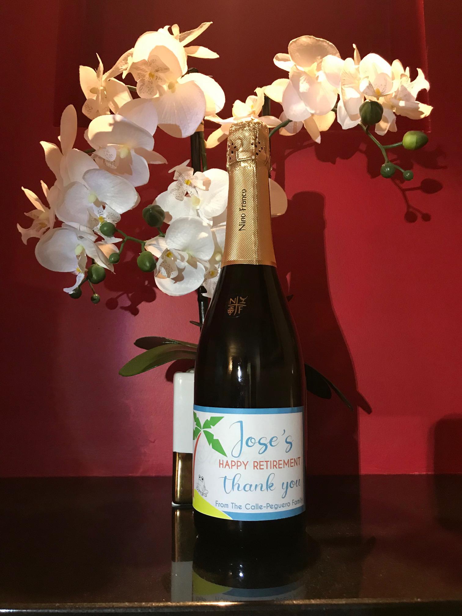 - Personalized Wine Bottle Label