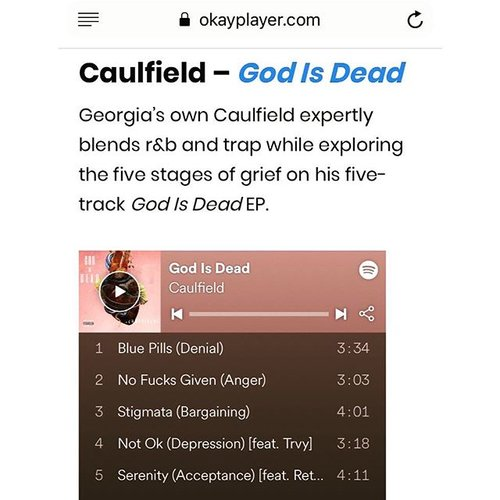 Tour — My Name Is Caulfield