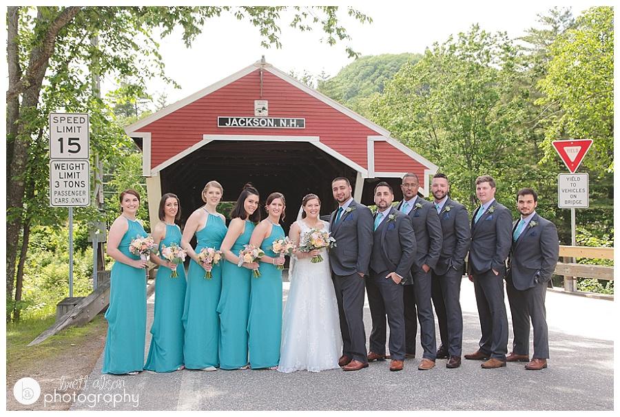 wedding photos at covered bridge jackson nh