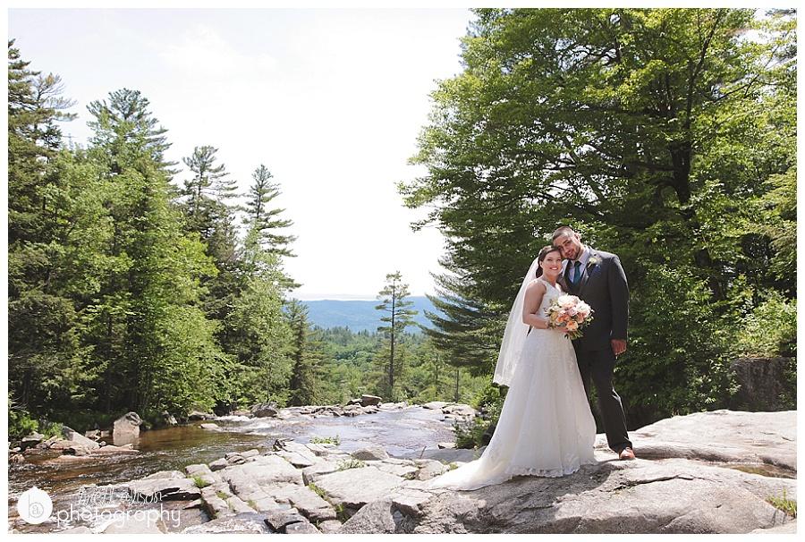 wedding photos at jackson falls new hampshire