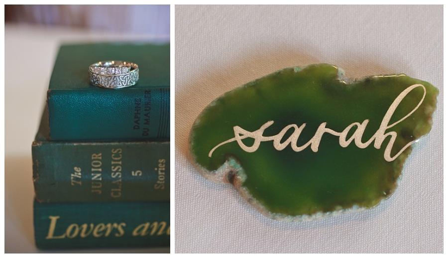 green celtic wedding details