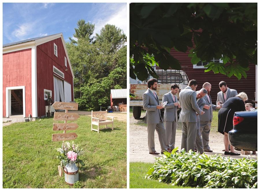 red barn wedding nh