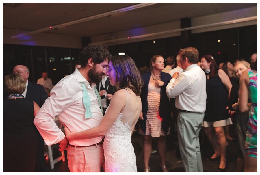 wedding reception at community rowing