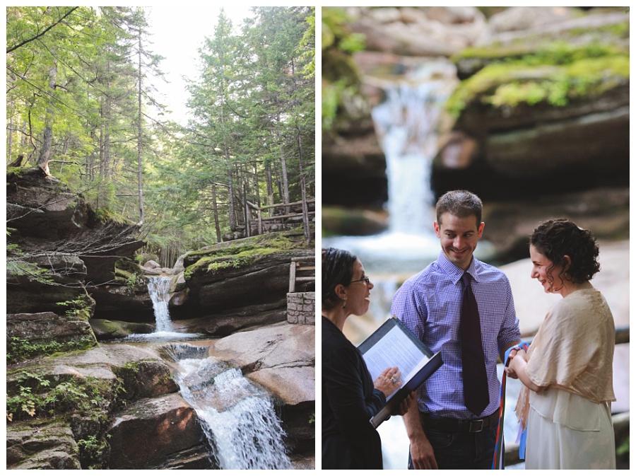 white mountains wedding outdoors