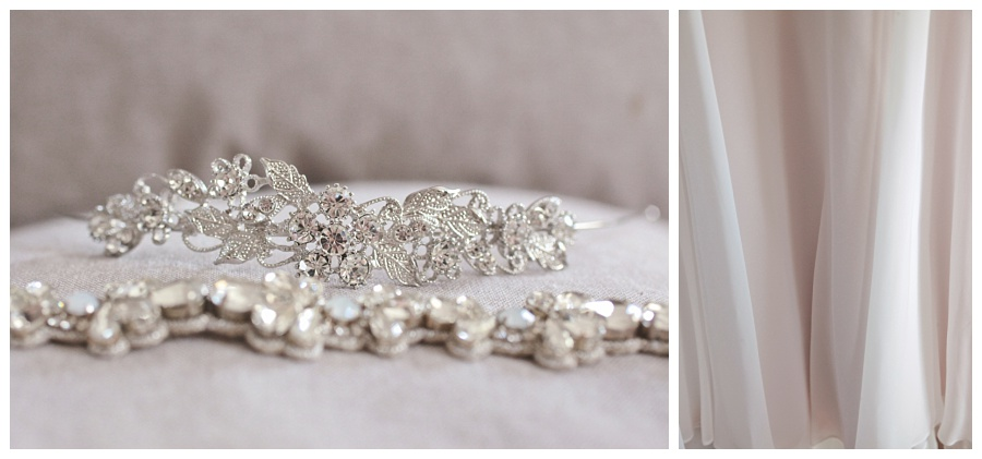 soft blush wedding details