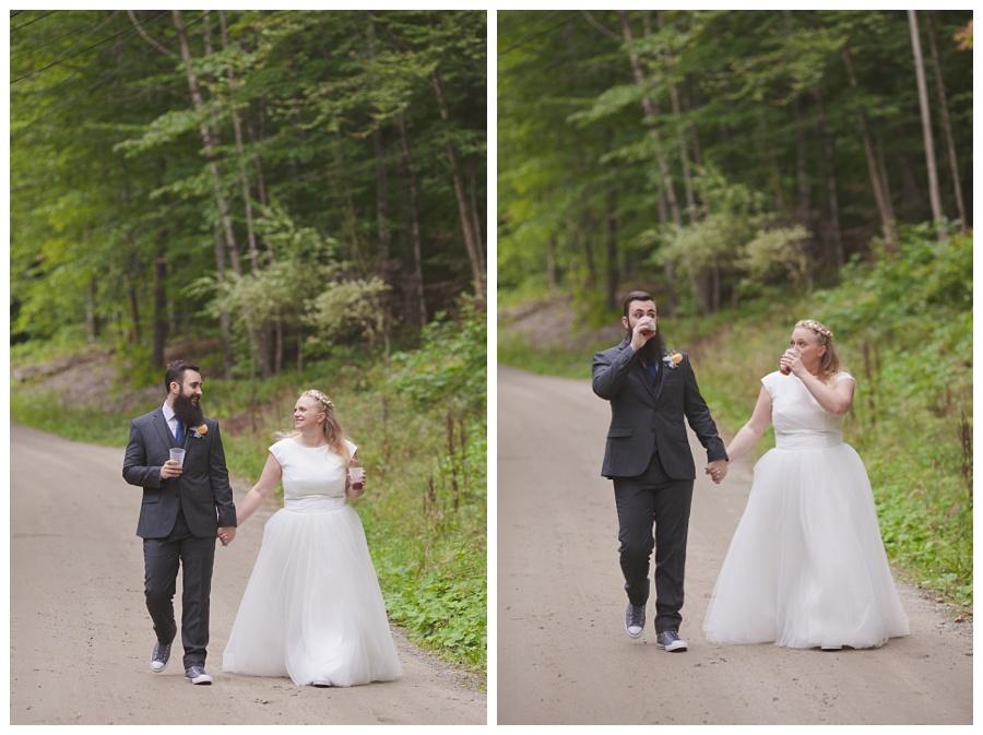woodsy natural wedding new hampshire