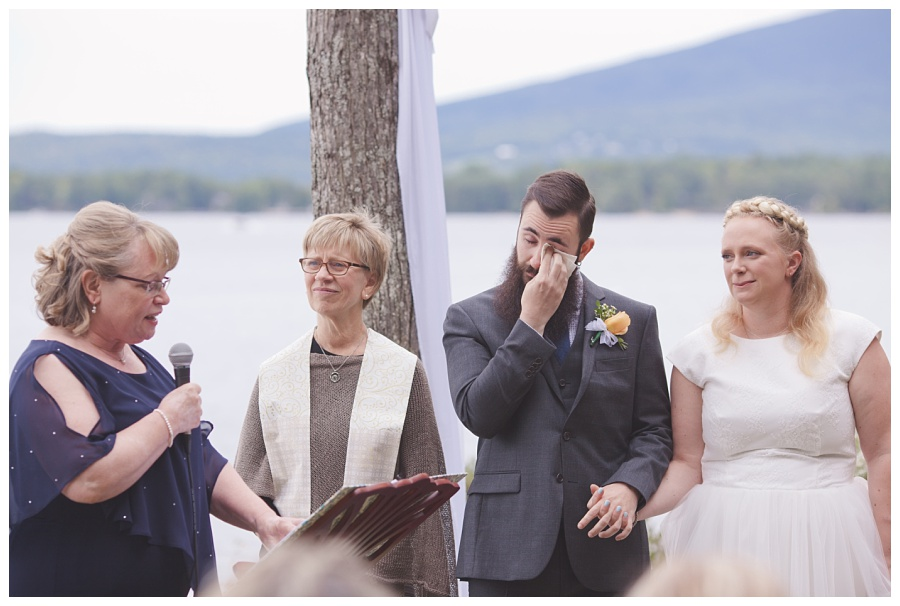 emotional couple during wedding ceremony nh
