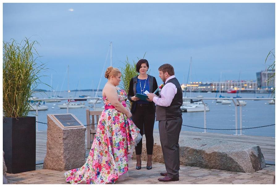 courtyard wedding ceremony new england aquarium