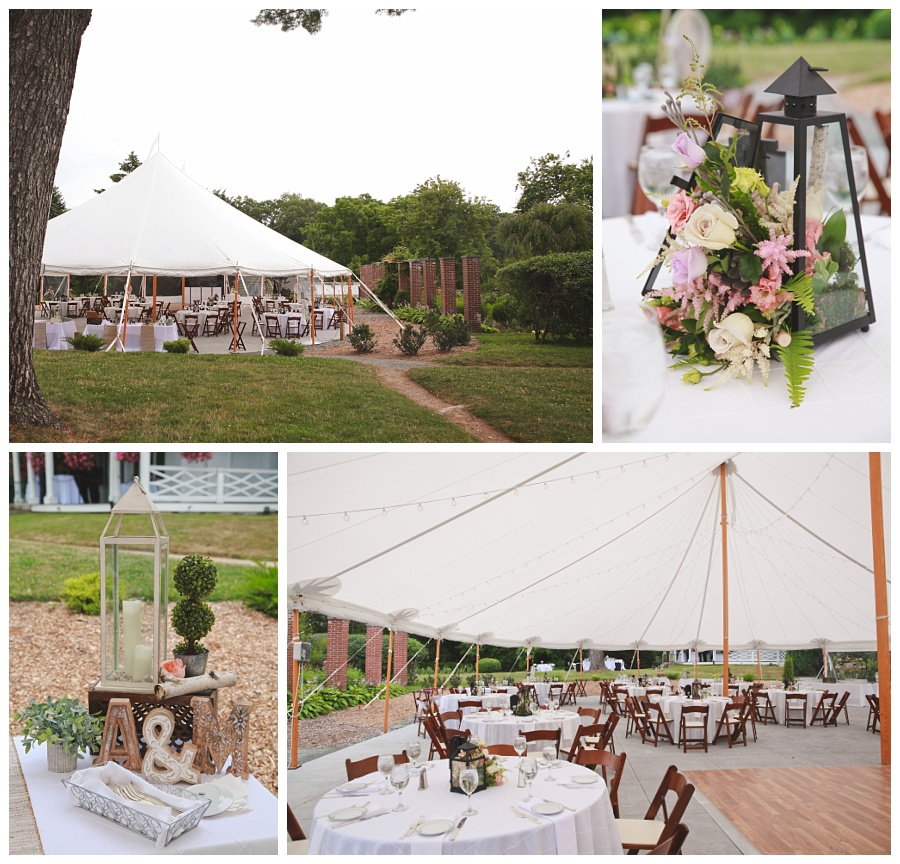 wedding details tent glen magna farms