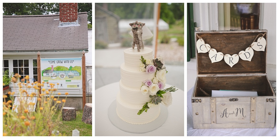 cute wedding farm details