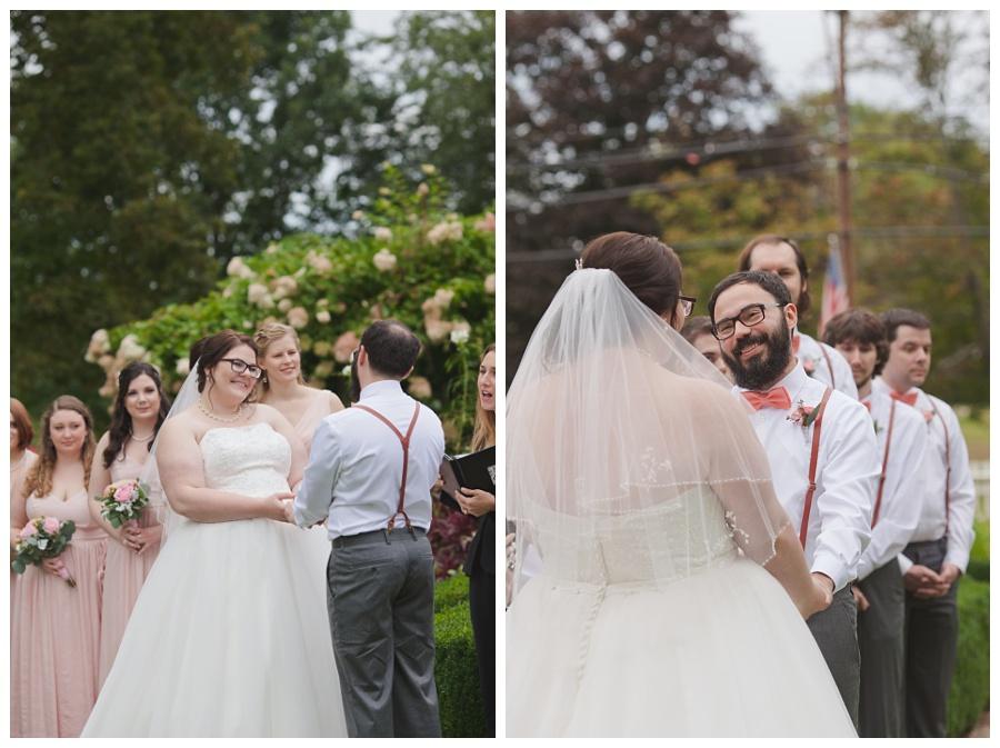 wedding ceremony roseland cottage