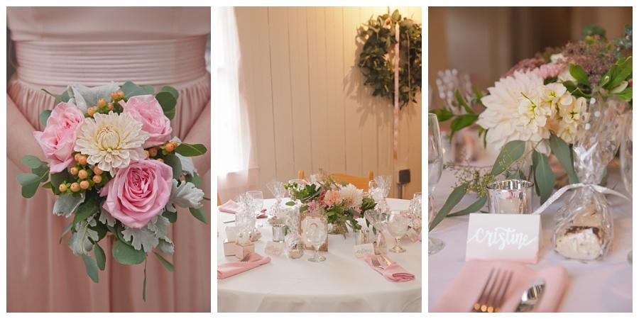 pretty blush pink wedding details