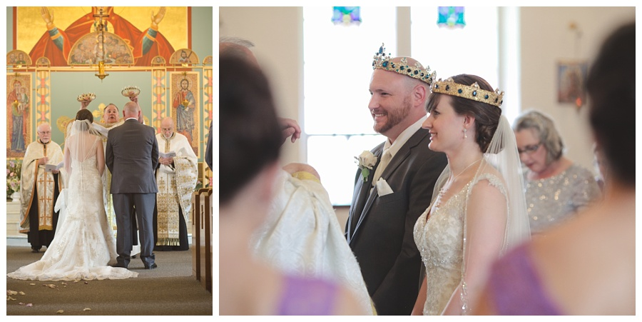 crowns tradition at wedding ceremony