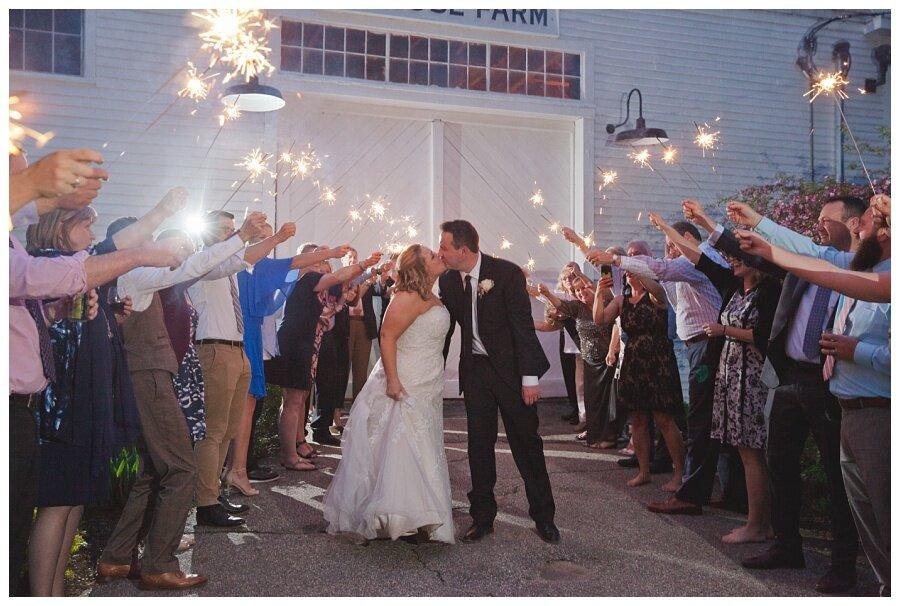 sparkler wedding send off photos