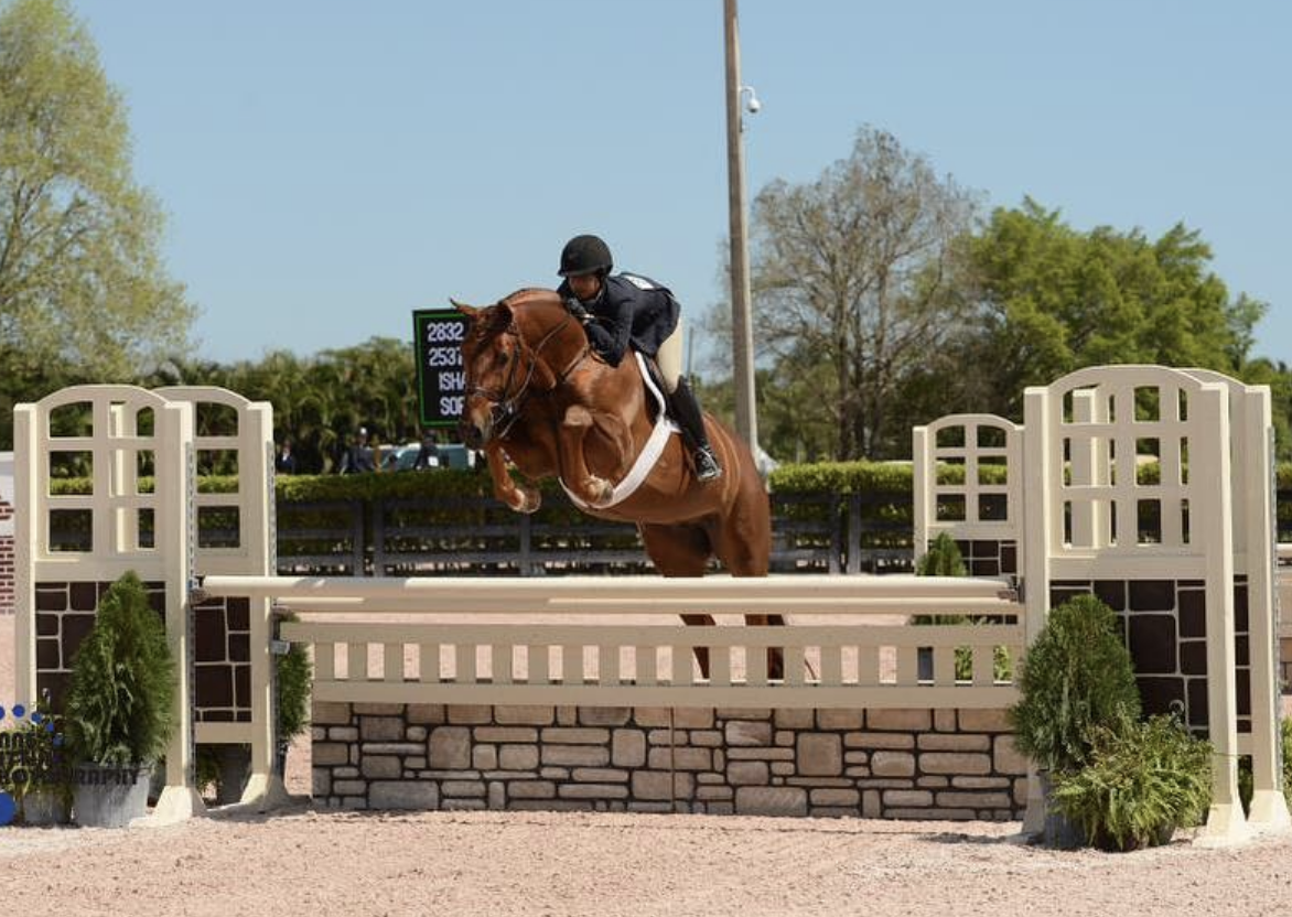 Isha and Monroe in the 3'6 Large Junior Younger Hunters in Wellington, FL