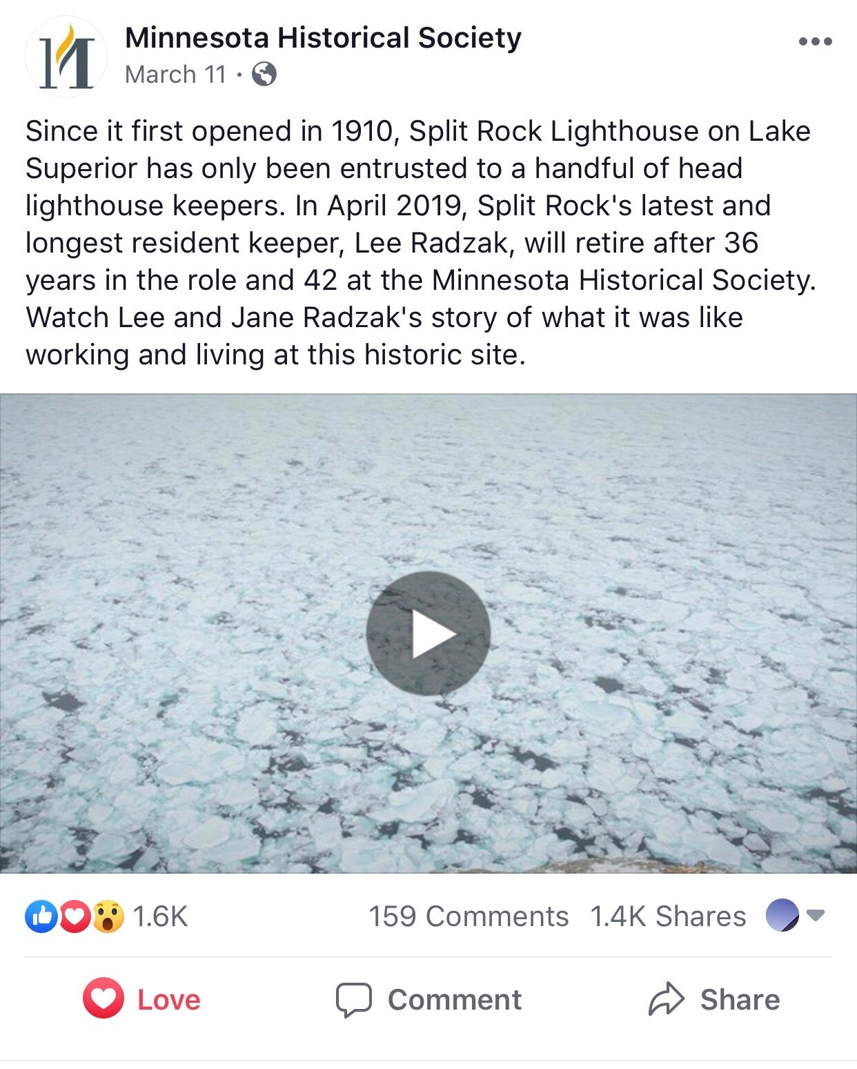 Lee Radzak FB post