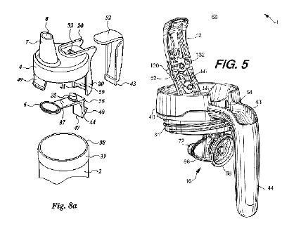 Image from Ignite's patent on the left, and an image from Swilion's prior art on the right.