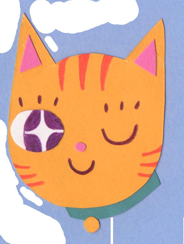 Winking Cat (Sticker), 2018