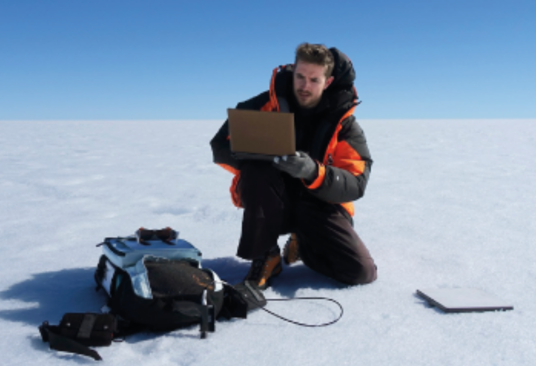 """Joseph Cook  - Climate Action  A glacial microbiologist, an explorer of the microscopic """"frozen rainforest"""" on the surface of the Greenland ice sheet, Cook has worked on the UK National Environmental Research Council's 'Black and Bloom' project, at the University of Sheffield to measure and model biological darkening of ice."""