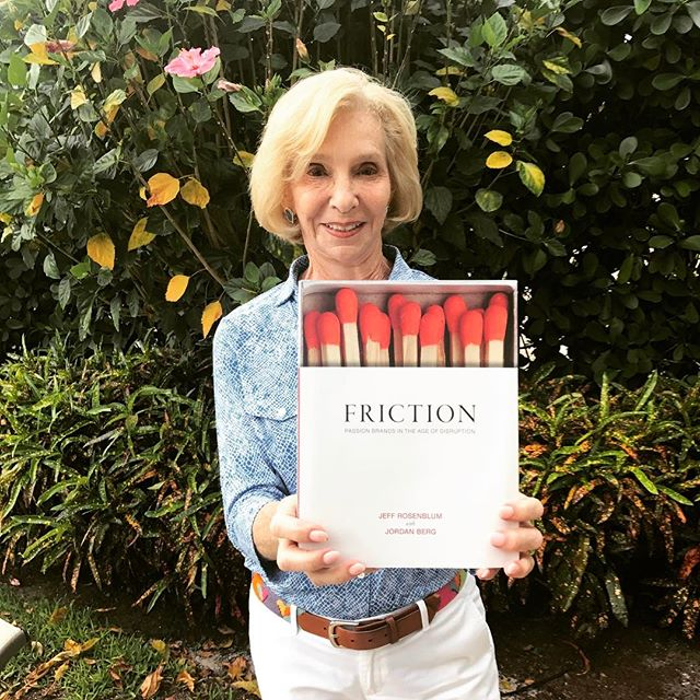Mom gets the first copy hot off the presses. #friction