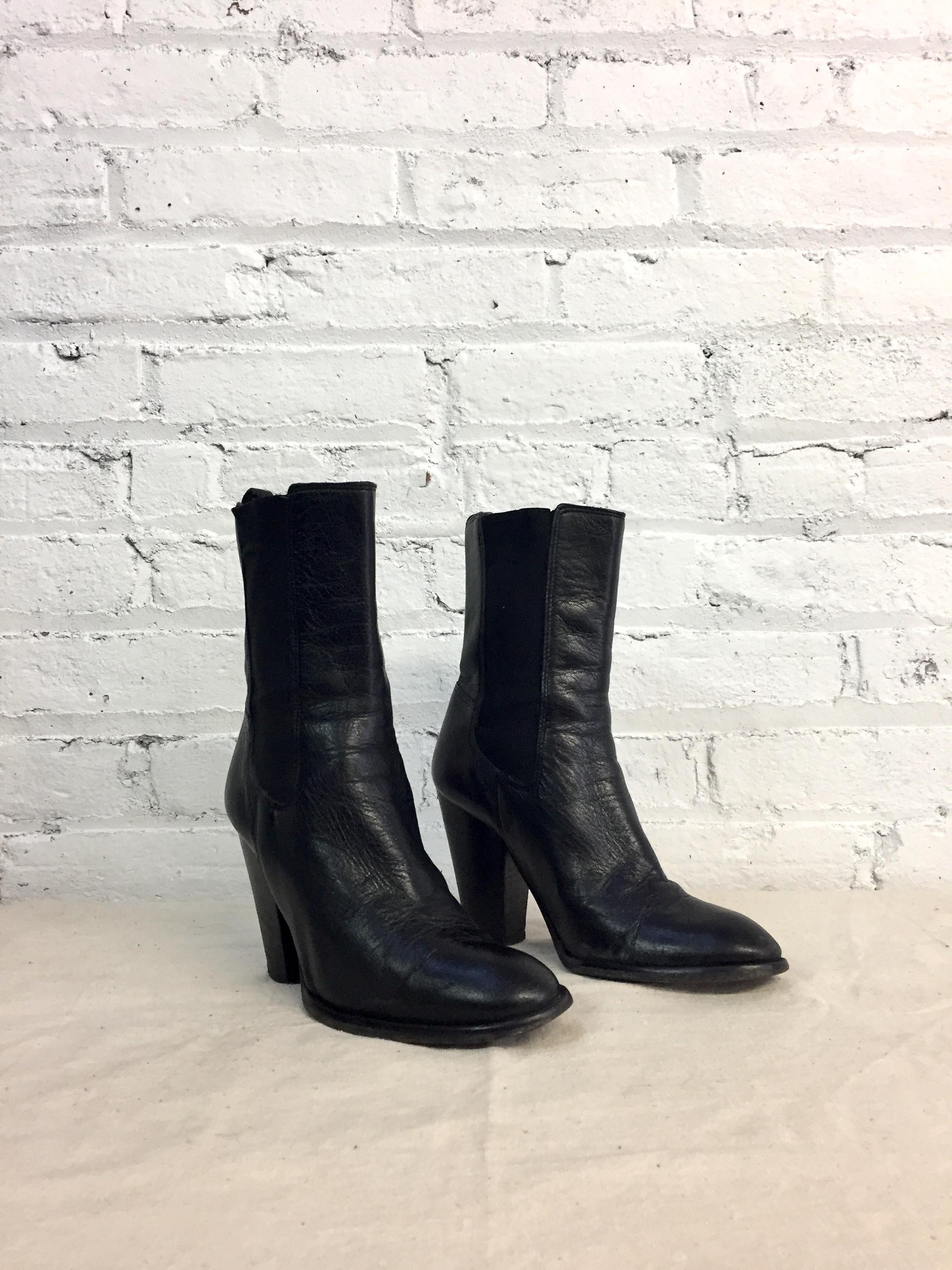 vintage Michael Kors black leather