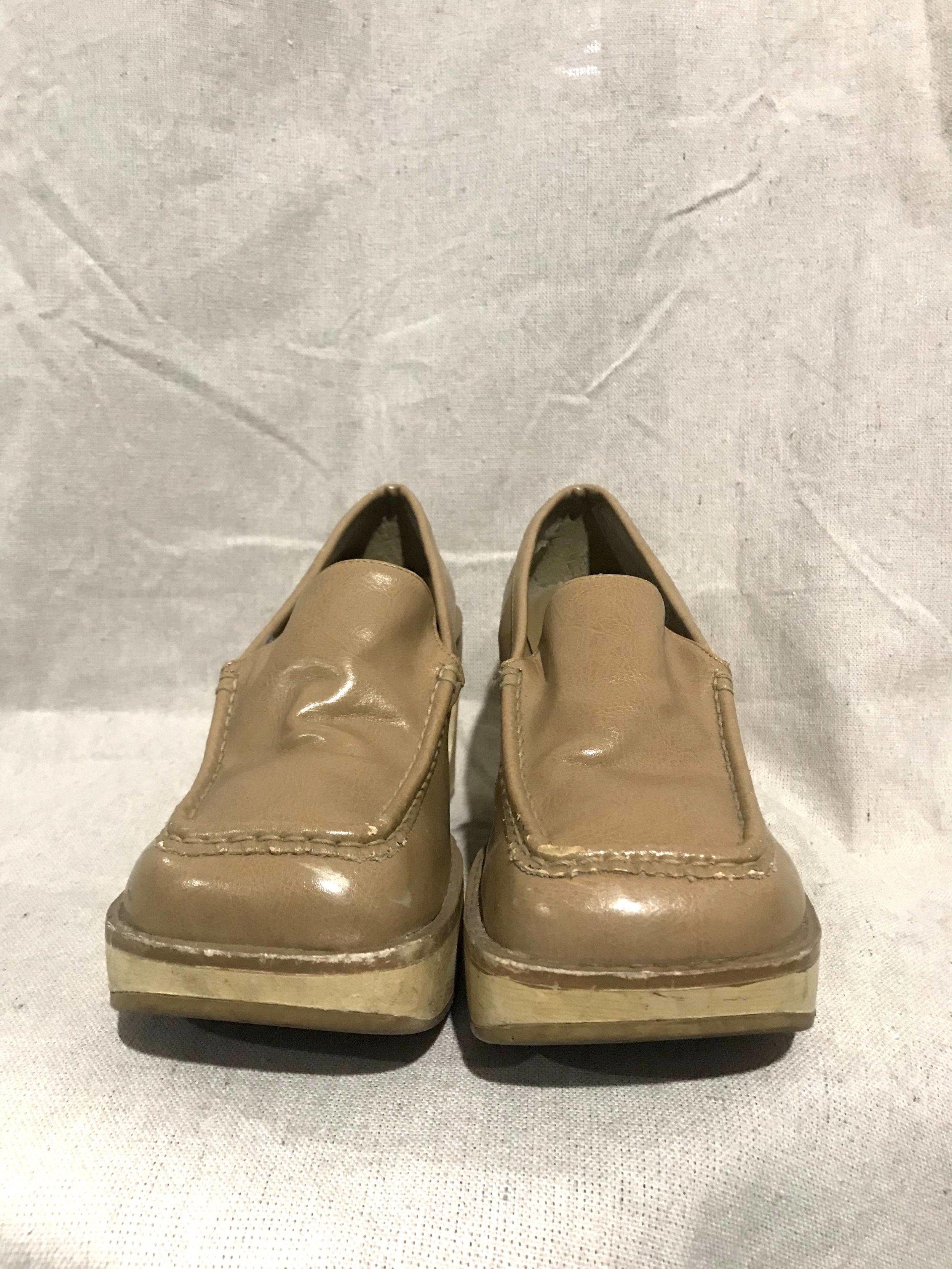 vintage 90s cutout heel platform