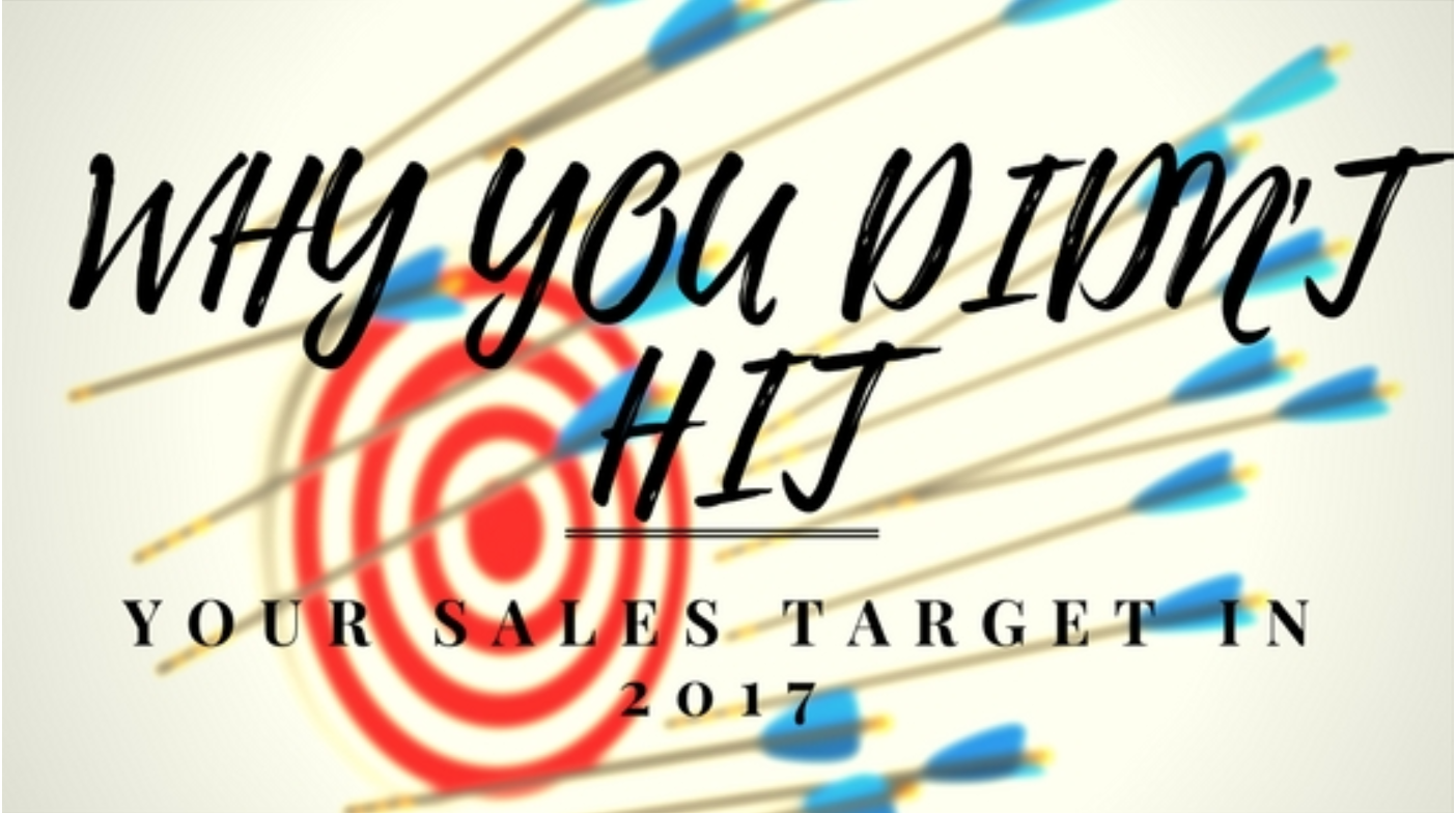 Why you didn't hit 2017 sales targets   Find out why many of our venues missed out on their sales targets last year and top tips for smashing them in 2018.